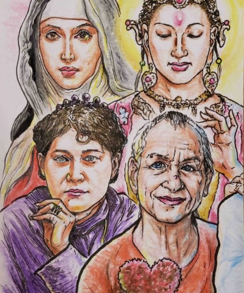 Kwan Yin, Theresa de Avila, Madame Blavatsky and Lady Ana